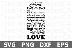 In This Home - A Family SVG Cut File Product Image 2