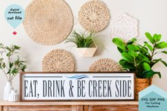 Eat, Drink and be Creek Side SVG, Cabin Kitchen Decor Product Image 1