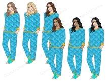 Hanukkah GIRLS Dreidel Menorah Chanukah Holiday Winter - PNG Product Image 3