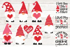 Valentine gnomes, valentines day gnomes sublimation png svg Product Image 1