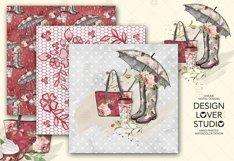Rain Romance digital paper pack Product Image 2