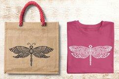 Dragonfly Zentangle - Doodle Art SVG Product Image 2