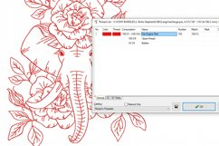 Redwork Floral Elephant 2 Machine Embroidery Design 2 sizes Product Image 2