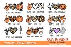 Halloween SVG bundle | fall svg | peace love svg bundle Product Image 1