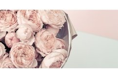 Bouquet flowers of peony roses, pink color, banner Product Image 1