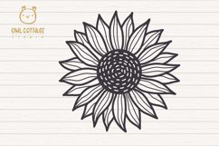 Cute Sunflower svg, Sunflower svg, Sunflower clipart Product Image 5