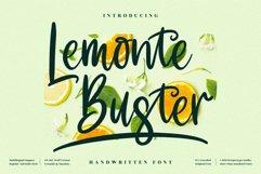 Lemonte Buster - Cute Handwritten Font Product Image 1