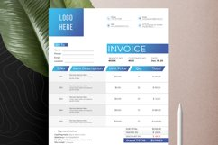 Modern Invoice Template Google Sheets Excel Numbers Format Product Image 8