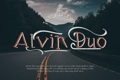 Alvin Duo - 5 Font styles and 150plus Swashes Product Image 1