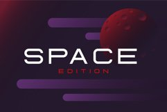 Fearce Typeface & Space Flyer Product Image 4