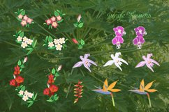 Jungle clipart with flowers Product Image 4