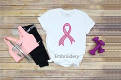 Embroidery Ribbon Breast Cancer Pink Awareness faith hope Product Image 1