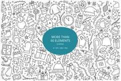 Doodle New Year Big set Vector Clipart Product Image 3