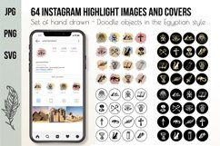 Hand drawn Watercolor Instagram Highlight icons travel cover Product Image 1