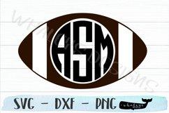 Football Monogram, Fall Sports Team SVG Product Image 1