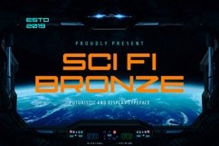 Bronze Modern and Futuristic Font Product Image 1
