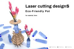 Eco friendly pot- laser cutting file Product Image 1