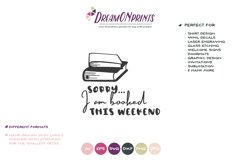Sorry, I am Booked this Weekend SVG | Book Lover SVG Product Image 2