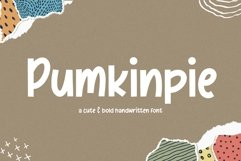 Pumkinpie Cute & Bold Handwritten Font Product Image 1