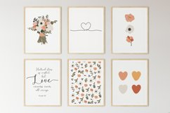 Set of 6 flower prints, Digital love posters, Birthday gift Product Image 1