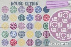 Keychain Svg Bundle of 220 designs Geometric patterns Product Image 3