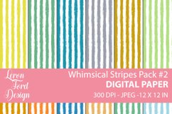 Whimsical Stripes Pack #2 Digital Paper Product Image 1