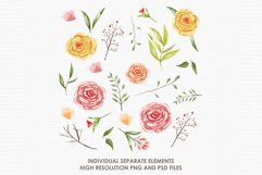 Ambrosia - Digital Watercolor Floral Flower Style Clipart Product Image 2