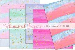 colorful watercolor paper, Watercolor Rainbow Clipart, Rainbow Digital Paper, Rainbow mint clipart, Watercolor Digital Paper Rainbow Colors Product Image 2
