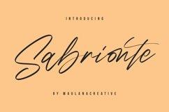 Sabrionte Script Font Product Image 1