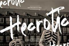 Web Font Hecrotic - A New Brush Font Product Image 1