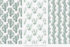 "Watercolor Pattern Set ""Succulents"" Product Image 2"