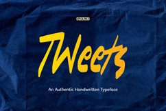 Tweets - A Playful Handwritten Typeface Product Image 1