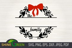 Christmas SVG - BEST SELLER Christmas Ornament SVG Monogram Product Image 2