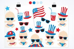 Baby 4th of July graphics and illustrations Product Image 2