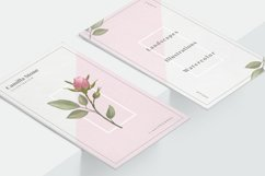 Pink Rose Business Card Template Product Image 4