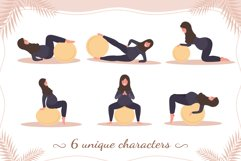 PREGNANT YOGA vector bundle Product Image 4
