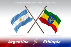 Argentina vs Ethiopia Two Flags Product Image 1