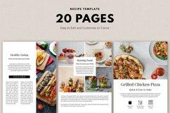 Recipe template, Recipe Ebook, Food, Cookbook template canva Product Image 4