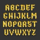 3d Golden Font Product Image 2