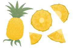 Pineapple hand drawn clip art Product Image 4