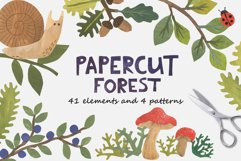 Papercut Forest Clip Art Product Image 1