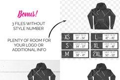 Bella Canvas 3719 Tshirt Size Chart Mockup Product Image 3