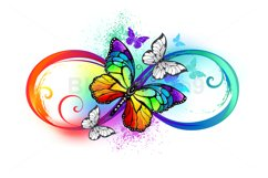 Bright Infinity with Rainbow Butterfly Product Image 1