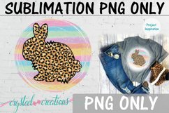 Sublimation Easter Rabbit Leopard Print 300dpi PNG Product Image 1