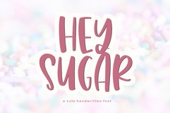 Hey Sugar - A Cute & Quirky Handwritten Font Product Image 1