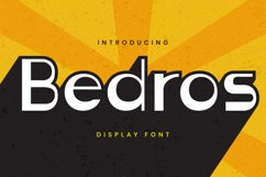 Bedros Font Product Image 1
