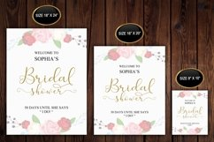 Gold welcome bridal shower sign, Welcome printable, DAD_24 Product Image 2
