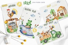 Farm Watercolor Clipart. Cards, frames, seamless patterns Product Image 10