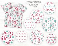 Valentine Gnomes - clipart and digital paper Product Image 4