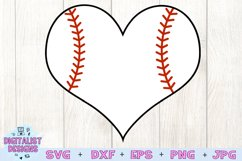 Baseball Heart SVG   Baseball SVG   Sports SVG Product Image 2